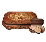 Große Schmuckschatulle mit viel Platz und 18-Ton Spieluhren-Melodie