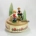 Erzgebirge Spieluhren-Spieldose Erntewagen