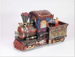 Lokomotive mit Bärchen und Spieluhr
