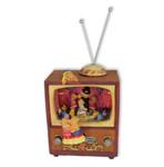 Nostalgischer Fernseher mit Bärchen und Spieluhr