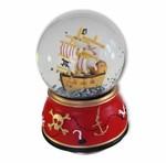 Schneekugel Piratenschiff mit Spieluhr