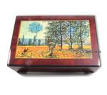 Bildlackdose Felder im Frühling von Claude Monet, mit Spieluhr