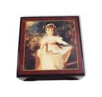 Bildlackdose Miss Murray von Thomas Lawrence, mit Spieluhr