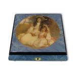 Schmuck-Schatulle mit einlackiertem Bild Schwestern und wählbarer Spieluhr-Melodie