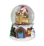 Schneekugel Santas Werkstatt mit Spieluhr