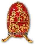 Schmuck- Ei Rot mit Spieluhr