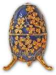 Schmuck-Ei-Blau mit Spieluhr