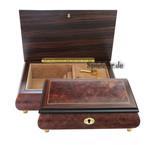 Schmuckschatulle mit Edelholzeinlage und 18-Ton Spieluhren Melodie