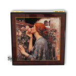 Bildlackdose The soule of the rose von John William Waterhouse, mit Spieluhr