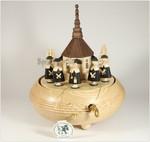 Erzgebirgische Spieldose-Spieluhr KurrendeSänger mit 28-Ton Spieluhr