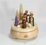 Spieluhren-Spieldose Krippe mit den 3 Königen farbig