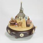 Spieldose Spieluhr Seiffener Weihnachtsmarkt a.d. Erzgebirge
