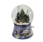 Weihnachtliche Schneekugel mit Spieluhren Melodie
